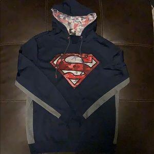 Superman Hoodie Mens Size L